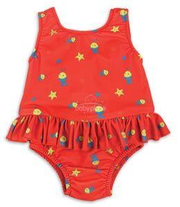 Bambino Mio dívčí plavky vcelku Red fish
