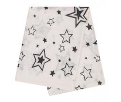 Bambusová plenka 90x90 cm LittleUp Grey Stars