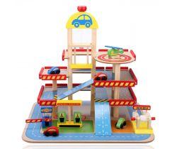 Barevná garáž Wooden Toys