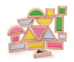Barevné tvary senzorické Bigjigs Toys Přírodní