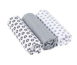 Bavlněné plenky 85x85 cm Lässig Swaddle blanket