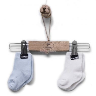 Bavlněné ponožky 2 páry Kitikate Organic Ecru-Blue