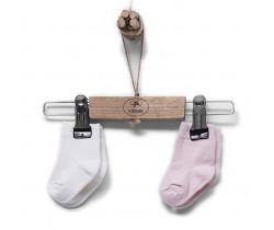 Bavlněné ponožky 2 páry Kitikate Organic Ecru-Pink