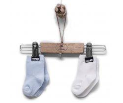 Bavlněné ponožky 2 páry Kitikate Organic White-Blue