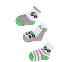 Bavlněné ponožky 3 ks Yo Green Builder