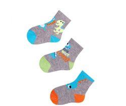 Bavlněné ponožky 3 ks Yo Grey Monster