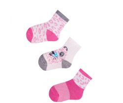 Bavlněné ponožky 3 ks Yo Pink Ribs