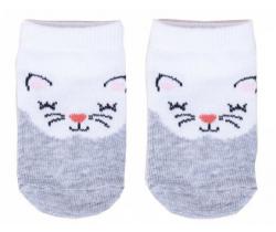 Bavlněné ponožky YO White Cat
