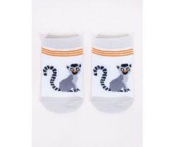 Bavlněné ponožky YO White Lemur