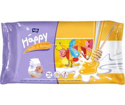 Bella Baby Happy čisticí ubrousky mléko a med 64 ks