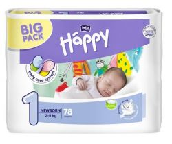 Bella Baby Happy Newborn plenky (2-5 kg) 78 ks
