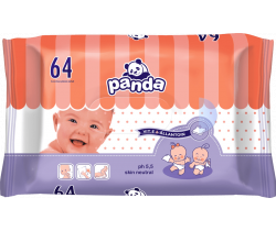 Bella Baby Panda vlhčené ubrousky 64 ks