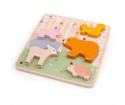 Dřevěné puzzle Bigjigs Baby Woodland