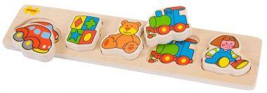 Dřevěné vkládací puzzle Bigjigs Baby Hračky