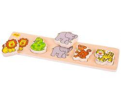 Dřevěné vkládací puzzle Bigjigs Baby Safari