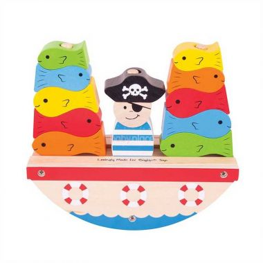 Nasazovací kostky Bigjigs Baby Pirát
