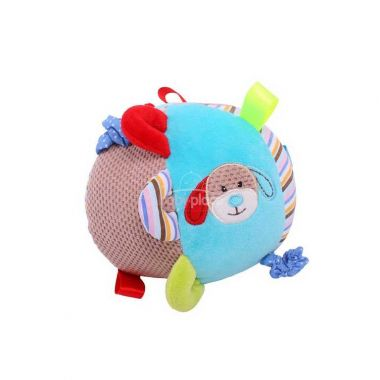 Textilní motorická koule Bigjigs Baby Pejsek Bruno