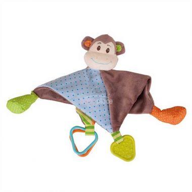 Textilní muchlánek Bigjigs Baby Opička Cheeky