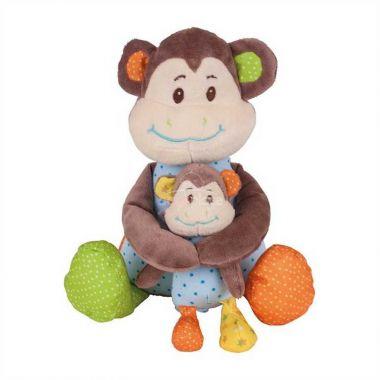 Textilní postavička Bigjigs Baby Opička Cheeky