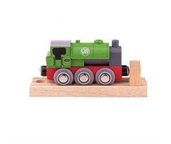 Dřevěná lokomotiva Bigjigs Rail GWR Green