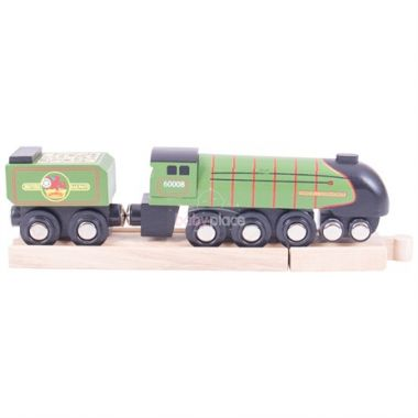 Dřevěná replika lokomotiva Bigjigs Rail Eisenhower