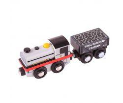 Dřevěná replika lokomotivy + 2 koleje Bigjigs Rail Peckett