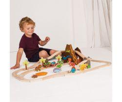 Dřevěná vláčkodráha Bigjigs Rail Dinosauří