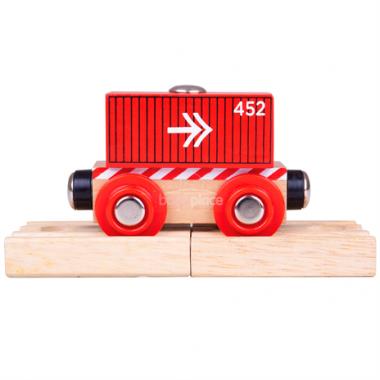 Vagón Bigjigs Rail Kontejner červený