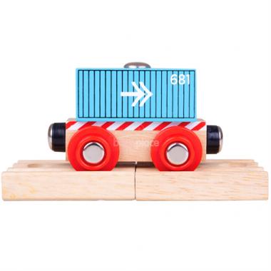 Vagón Bigjigs Rail Kontejner modrý