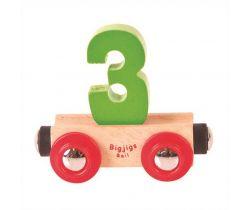 Dřevěné vláčkodráhy Bigjigs Rail Vagónek Číslo 3