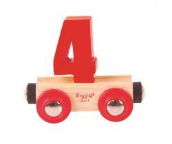 Dřevěné vláčkodráhy Bigjigs Rail Vagónek Číslo 4