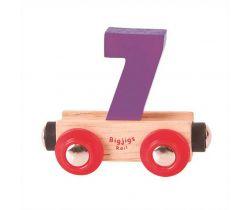 Dřevěné vláčkodráhy Bigjigs Rail Vagónek Číslo 7