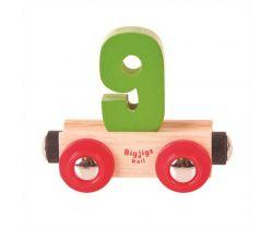 Dřevěné vláčkodráhy Bigjigs Rail Vagónek Číslo 9