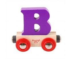 Dřevěné vláčkodráhy Bigjigs Rail Vagónek Písmeno B