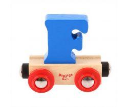 Dřevěné vláčkodráhy Bigjigs Rail Vagónek Písmeno F