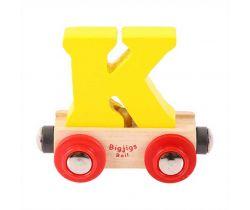 Dřevěné vláčkodráhy Bigjigs Rail Vagónek Písmeno K