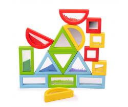 Barevné tvary senzorické Bigjigs Toys Duhové