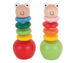 Barevný červík s jablíčkem Bigjigs Toys