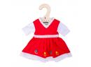 Květinové šaty pro panenku 28 cm Bigjigs Toys Červené