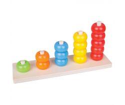 Dřevěná motorická deska Bigjigs Toys Nasazování Korálky