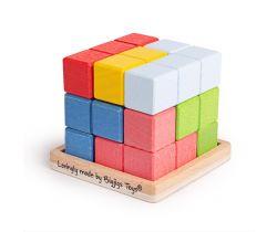 Dřevěná skládací kostka Bigjigs Toys