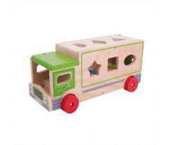 Dřevěné auto s tvary Bigjigs Toys