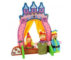 Dřevěné divadlo s prstovými maňásky Bigjigs Toys