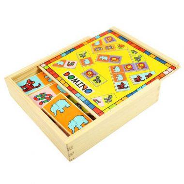 Dřevěné domino Bigjigs Toys Zvířatka