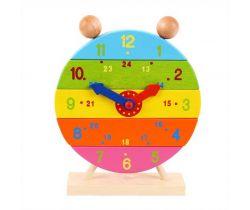 Dřevěné nasazovací hodiny Bigjigs Toys