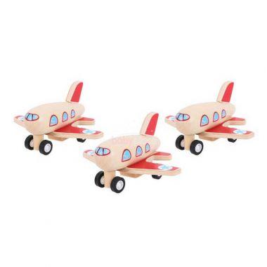 Dřevěné natahovací letadlo Bigjigs Toys 1ks