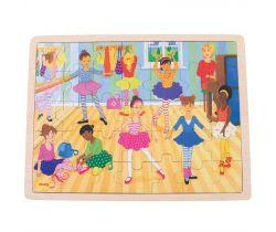 Dřevěné puzzle Bigjigs Toys Baletky 35 dílků