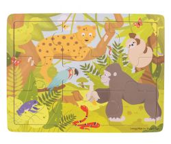 Dřevěné puzzle Bigjigs Toys Jungle