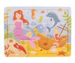 Dřevěné puzzle Bigjigs Toys Mořská panna