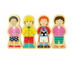 Dřevěné puzzle Bigjigs Toys Národnosti